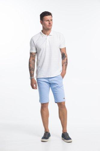 Bermuda de Sarja Masculina Bolso Faca Azul Claro