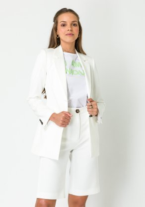 Blazer Feminino Alongado Off White