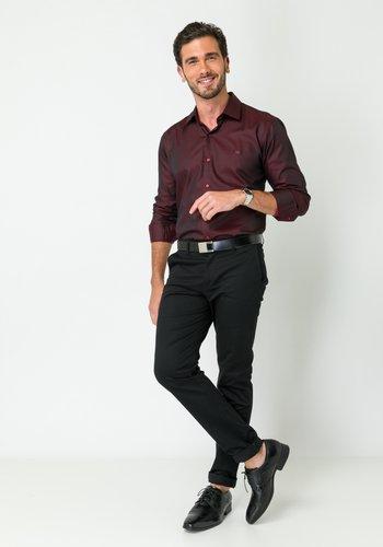 Calça de Sarja Masculina Slim Preto