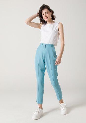Calça Feminina Skinny Cintura Alta Azul
