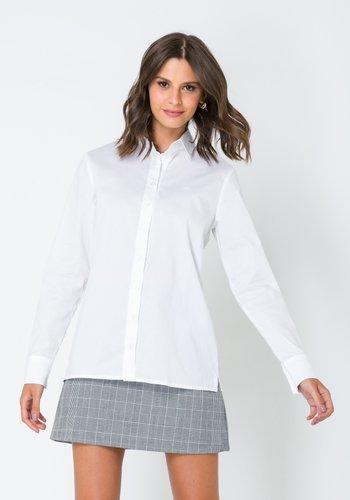 Camisa Feminina Alongada Branca