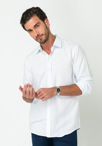 Camisa Masculina Manga Longa Slim Branca