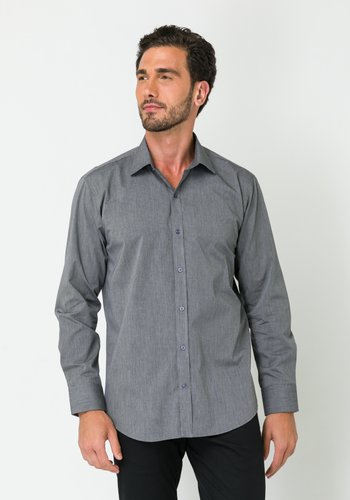 Camisa Masculina Manga Longa Slim Preto Fio 50