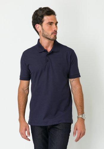 Camisa Polo Piquet Manga Curta Azul Marinho