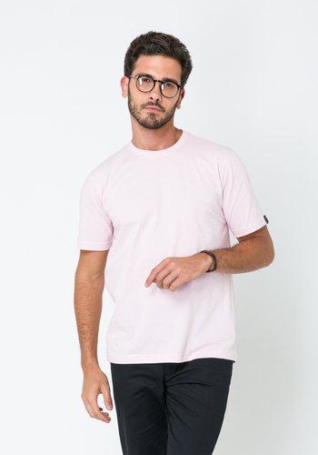 Camiseta Masculina Básica Rosa Claro