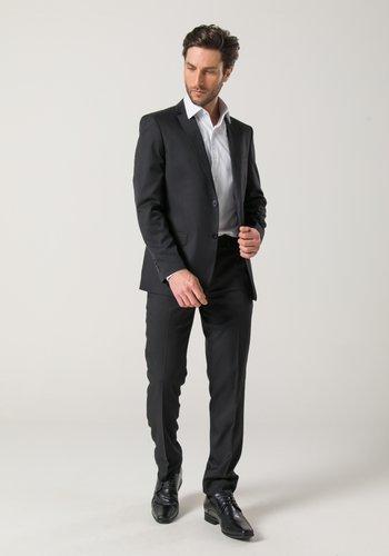 Costume Masculino Clássico Slim 2 Botões Preto
