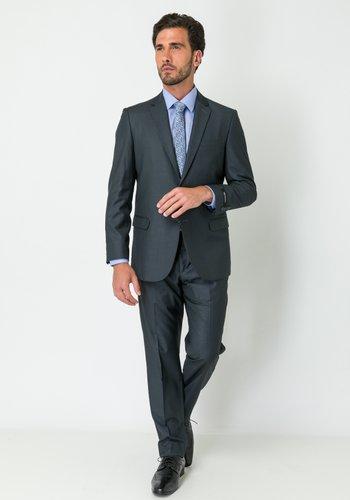 Costume Masculino Slim Clássico 2 Botões Cinza Escuro