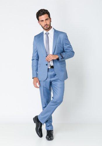 Costume Masculino Slim Premium 2 Botões Azul Claro