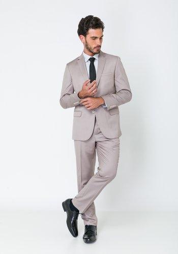 Costume Masculino Slim Premium 2 Botões Bege