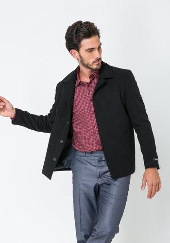 Jaqueta Masculina em Lã Sintética Preta