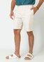 Bermuda de Sarja Masculina Bege Bolso Faca
