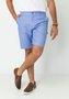 Bermuda de Sarja Masculina Bolso Faca Azul