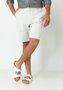 Bermuda de Sarja Masculina Bolso Faca Cinza Claro