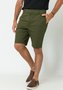 Bermuda de Sarja Masculina Verde Militar Bolso Faca