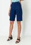 Bermuda Feminina Alfaiataria Cintura Alta Azul Marinho