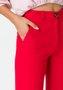 Bermuda Feminina Alfaiataria Cintura Alta Vermelha
