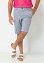 Bermuda Masculina Casual Bolso Faca Azul