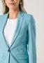 Blazer Alongado Feminino 1 Botão Azul