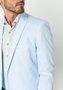 Blazer Masculino de Sarja Slim 2 Botões Azul Claro