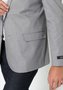 Blazer Masculino de Sarja Slim 2 Botões Cinza