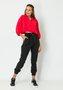 Blusa Feminina Ampla com Gola Vermelha