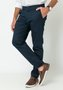 Calça de Sarja Masculina Slim Bolso Faca Azul