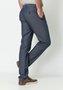 Calça de Sarja Masculina Slim Bolso Faca Azul Escuro