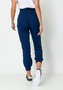 Calça Feminina Alfaiataria Cintura Alta e Cinto Azul Marinho