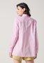 Camisa Feminina Ampla em Tricoline Rosa