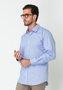 Camisa Masculina Manga Longa Slim Azul Claro