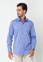 Camisa Masculina Manga Longa Slim Fio 50 Azul Claro