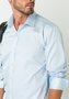 Camisa Masculina Manga Longa Slim Fio 60 Azul Claro