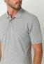 Camisa Polo Piquet Manga Curta Cinza