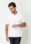 Camisa Polo Piquet Manga Curta Off White