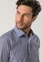 Camisa Social Masculina Manga Longa Azul