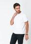 Camiseta Masculina Básica Algodão com Elastano Branca