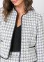 Casaco de Tweed Feminino Lã Xadrez