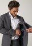 Costume Slim Masculino Lapela Fina 2 Botões Grafite Xadrez