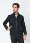 Jaqueta Masculina Bolso Diferenciado e Botão de Metal Preta