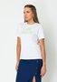 T-shirt Feminina Color Basic Branca