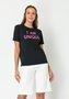 T-shirt Feminina Color Basic Preta