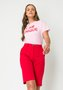 T-shirt Feminina Color Basic Rosa Claro